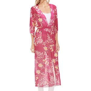 NWT🌟VINCE CAMUTO Floral Getaway Chiffon Duster